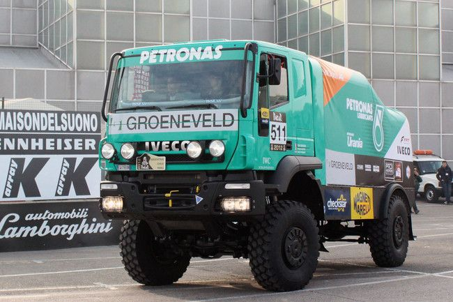 Miki Biasion's IVECO truck at the 2012 Dakar Rally