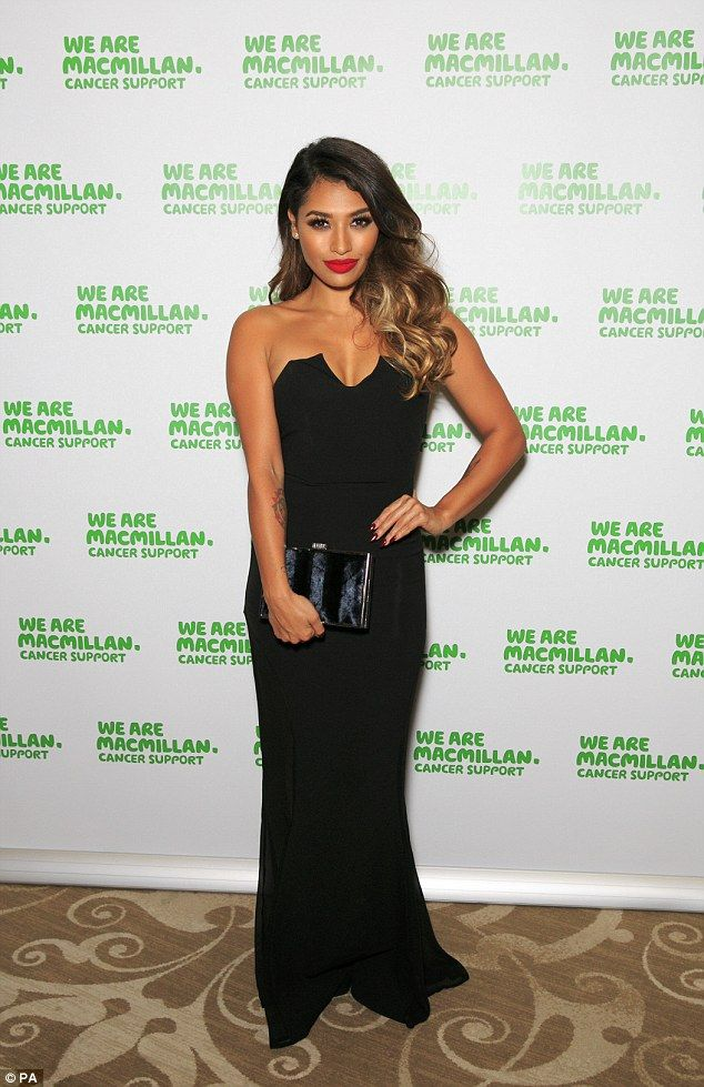 Demure: Vanessa White looked stunning as she arrived at the MacmillanCelebrity Stockings ...