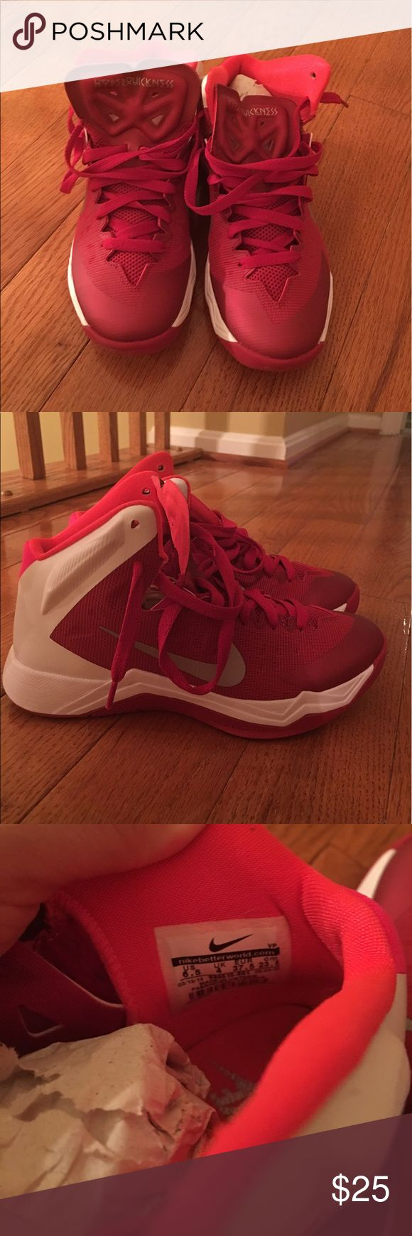 6.5 women's basketball shoes Nike women's basketball shoes. Worn twice. Shoes Athletic Shoes
