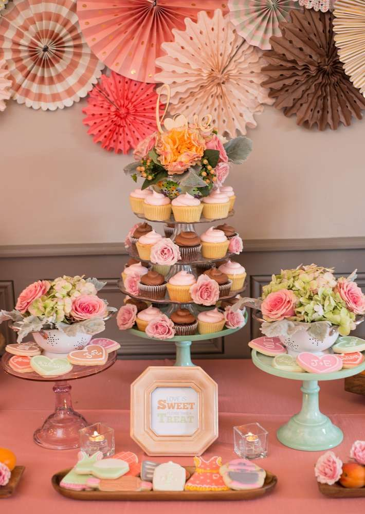 What a stunning kitchen themed bridal shower party! See more party planning ideas at CatchMyParty.com!