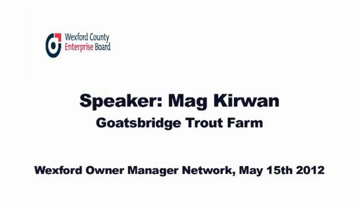 """This is """"Mag Kirwan from Goatsbridge Trout Farm"""" by  on Vimeo, the home for high quality videos and the people who love them."""