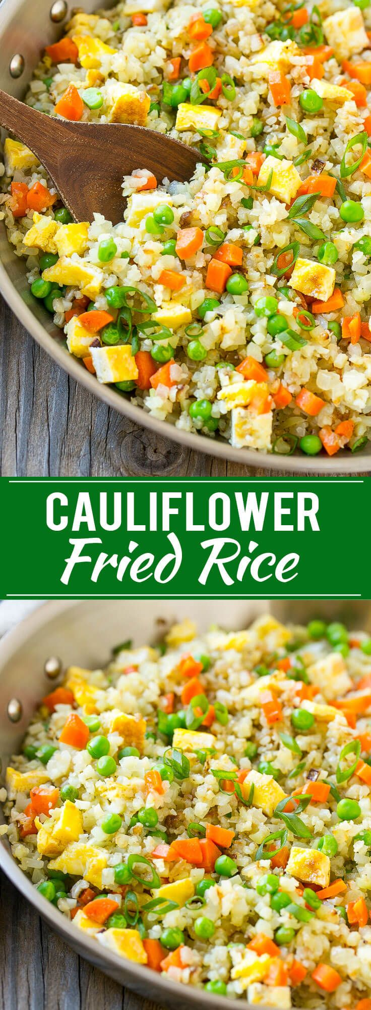 Cauliflower Fried Rice recipe! Easy, delicious and healthy!!