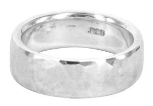 Hammered Finish ring in sterling silver - $220