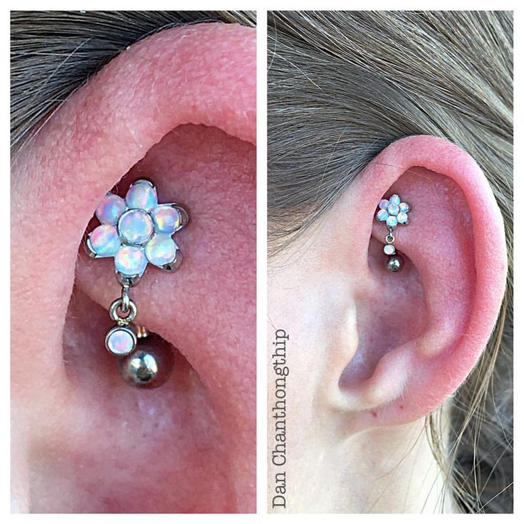 White opal Wednesday staring Anatometal White Opal Flower with 1.25mm white opal dangle for this fresh Rook piercing! #danchan #professional #bodypiercings #highquality #bodyjewelry #fidelitytattooco #jewelryaddiction #baltimore #baltimorepiercers #maryland #marylandpiercers #anatometal #jewelryporn #whiteopal #flower #jewelry #rook #piercings #rookpiercing #earpiercings #safepiercing #implantgradeastmf136ti #anatocrew #namedroppingsoyouknow #noknockoffs @anatometalinc @fidelitytattooco