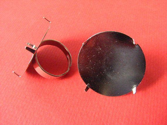 285 mm #Adjustable #Ring Base with Prong by Turkeysupply http://etsy.me/1F9Yh1u #jewelry #ring #mount #brass #jewel #gem #bezel #setting