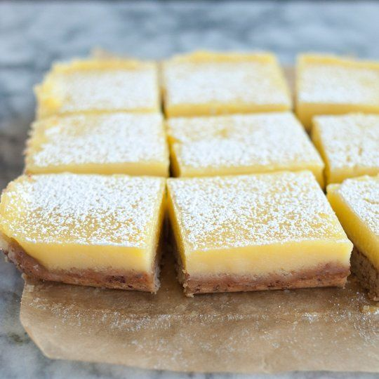 heavenly lemon bars with almond shortbread crust crust recipe dessert ...