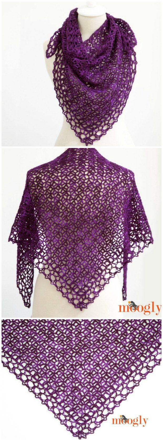 Free crochet pattern and video tutorial for how to make this gorgeous shawl.  You'll be amazed, but it's actually very simple!