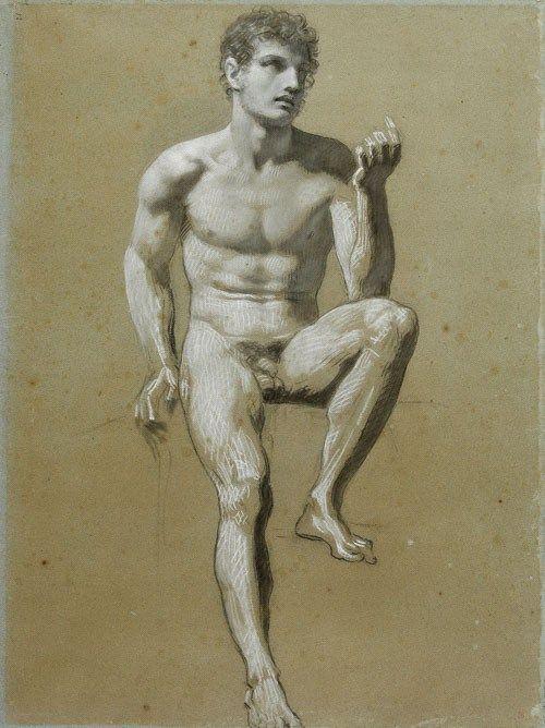 Male Nude by Pierre-Paul Prud'hon