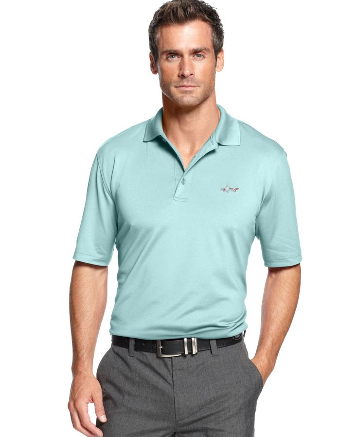 Greg norman for tasso elba big and tall golf shirt 5 iron for Large tall golf shirts