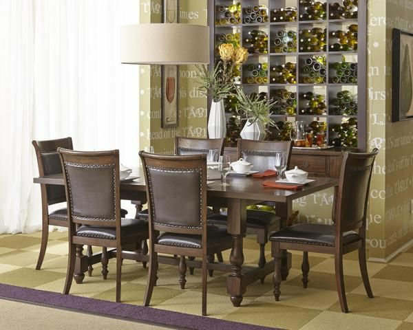 Grand Havana Traditional Dining Room Table