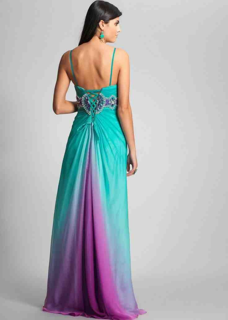 Teal and Purple Bridesmaid Dresses