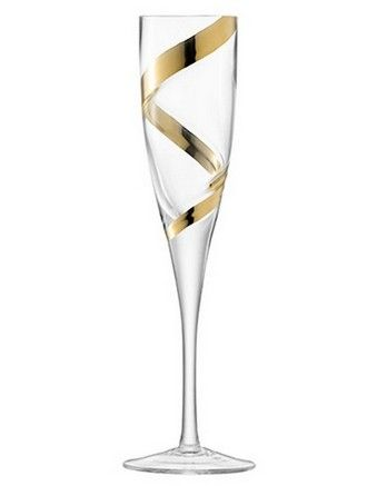 DREAMING - 'Malika Grand' Champagne Flute 225ml Gold Spiral Set of 2