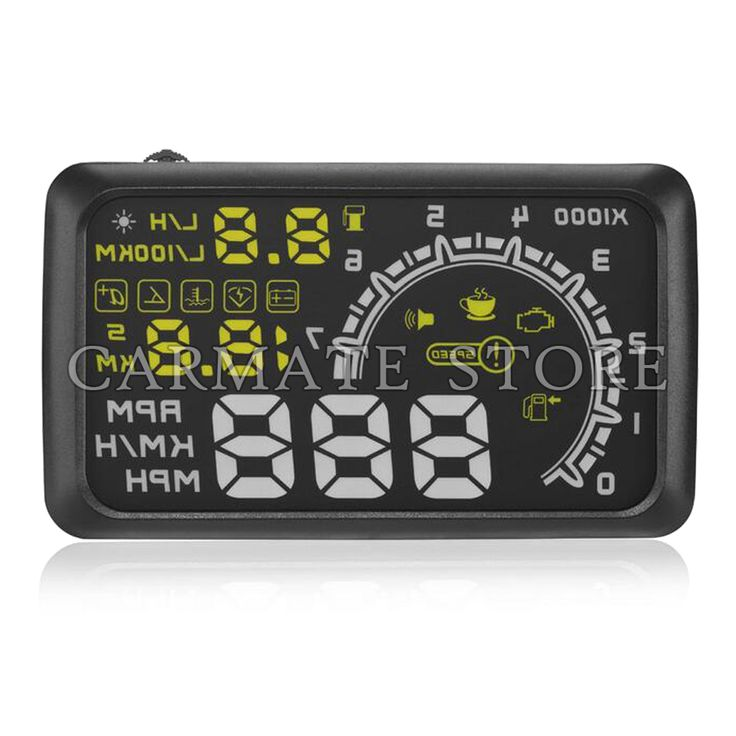 "Universal Car HUD 5.5"" Plug & Play Vehicle Head Up Display OBD2 Port MPH RPM KMH"
