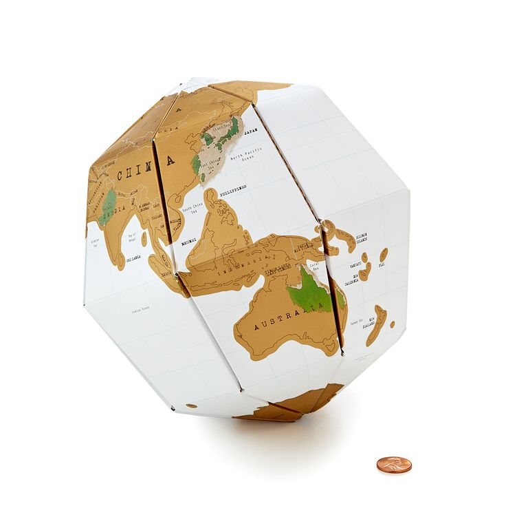 LOVE THIS!  SCRATCH MAP GLOBE | Scratch-Off Papercraft Travel Map | UncommonGoods