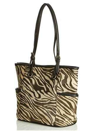 Zebra Metallic Tote Bag - A chic item for every day and evening wear!