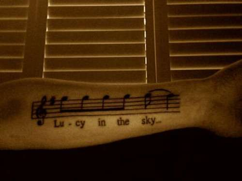 """""""Lucy In The Sky..."""" Beatles tattoo."""