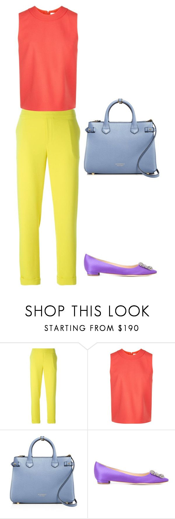 """""""5"""" by asvetik on Polyvore featuring мода, P.A.R.O.S.H., Victoria, Victoria Beckham, Burberry и Manolo Blahnik"""