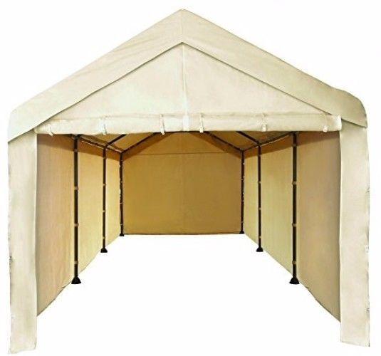 Sidewall Canopy Garage 10x20 Carport Car Shelter Heavy Duty Tent Cover- No Frame #CaravanCanopy