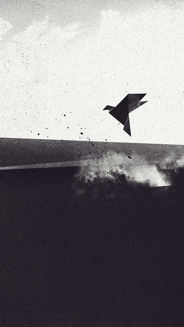Origami Bird #iPhoneWallpaper