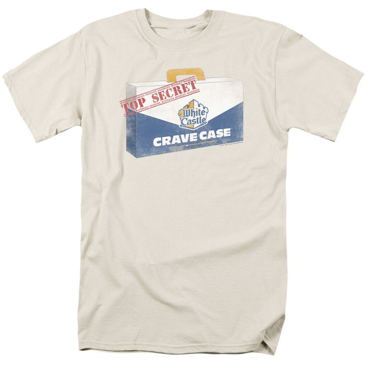 White Castle/Crave Case Short Sleeve Adult T-Shirt 18/1 in Cream