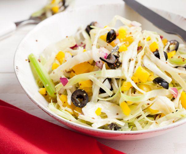 Koolsalade met paprika en bleekselderij | Gezond eten magazine