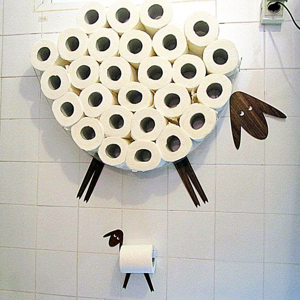 store a wool lot of tp on your wall - Bathroom Paper