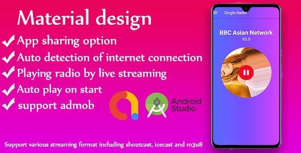 Download Free Single Radio Android Radio App Admob V1 0 Android Radio Radio Singles Online