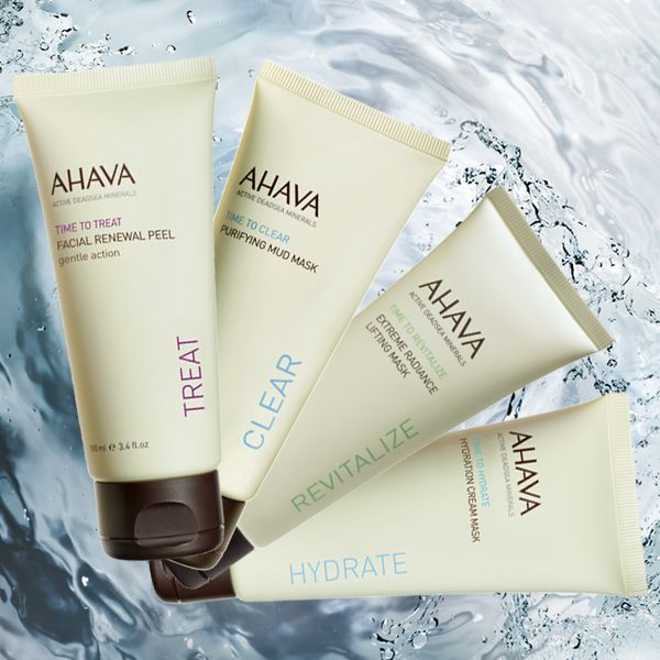 """Resolve to make more """"me time"""" in 2014! All you need is 10 minutes or less and your favorite AHAVA mask. #diyspa #ahava http://www.ahavaus.com/face/exfoliators-masks"""