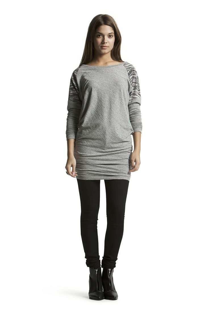 Delicious Jersey Tunic with Concorde Slim HW Jeans