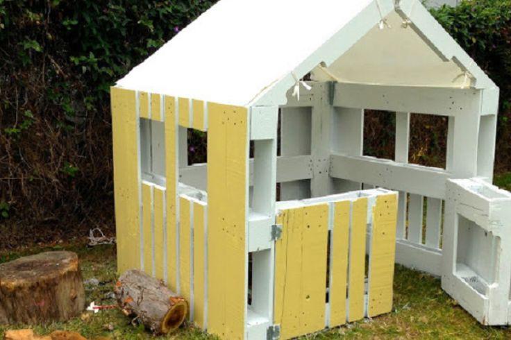 Construire une maison pour enfant partir de palettes de for Construire sa maison en palette