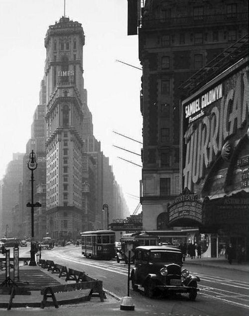NYC 1937: Vintage Nyc, Squares, Times Square, Flatiron Building, New York, Newyork, Photography