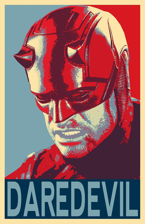 Daredevil Political Illustration Superhero Television Comicbook