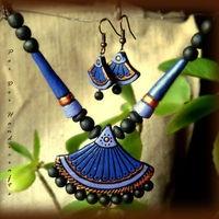Summer Collection - Purple Divine2 (purple fan shape)  https://www.facebook.com/terracottajewelryindia