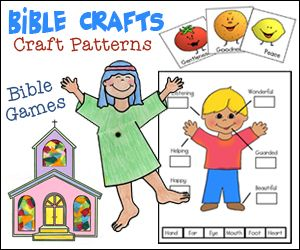 Children will love Sunday School with these great Bible Crafts and Bible Games for Kids from www.daniellesplace.com