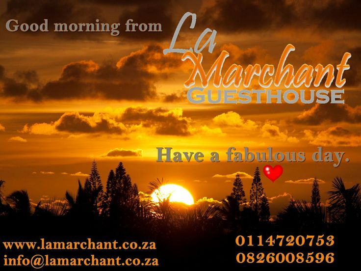 La Marchant Guesthouse is located in the heart of Roodepoort, in the tranquil suburb of Florida Park just off the N1 highway, drive up with William Nichol and cross over Ontdekkers road, second right, then second left again into Mail street. Make your booking today - call 082 600 8596. Email us info@lamarchant.co.za for more information. Looking forward to welcome you here. Everyone leaves here as friends. Our home is your home.