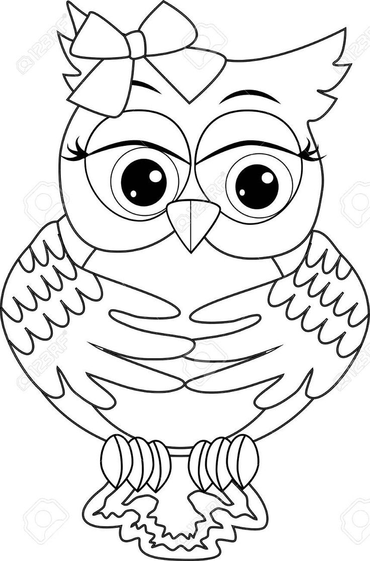 Cute Owl Coloring Pages to Print Coloring Page with Cute ...