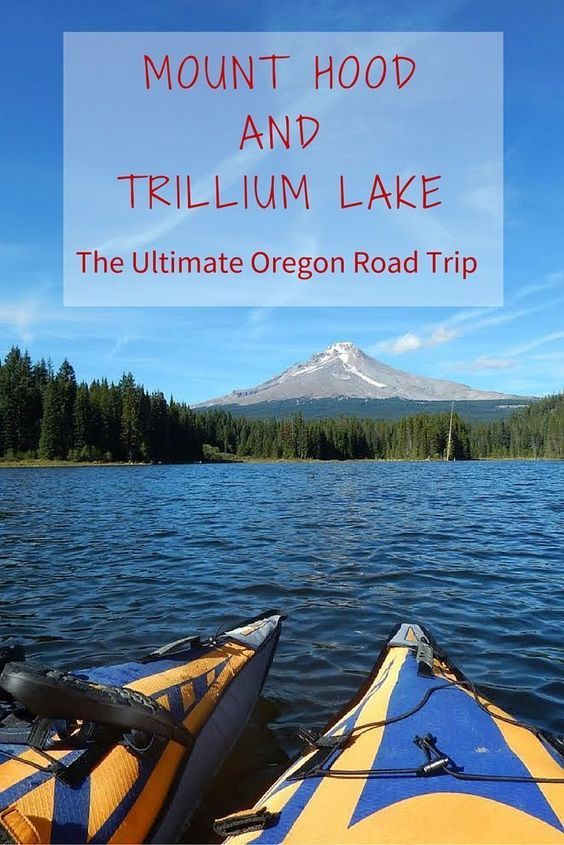 Can't miss Mount Hood when you're visiting Oregon! Click through to read my travel tips for planning a budget road trip, things to do at Mount Hood, and advice on camping and kayaking at Trillium Lake. Make sure to add Oregon to your bucket list of travel destinations! I'll help you plan the ultimate road trip.