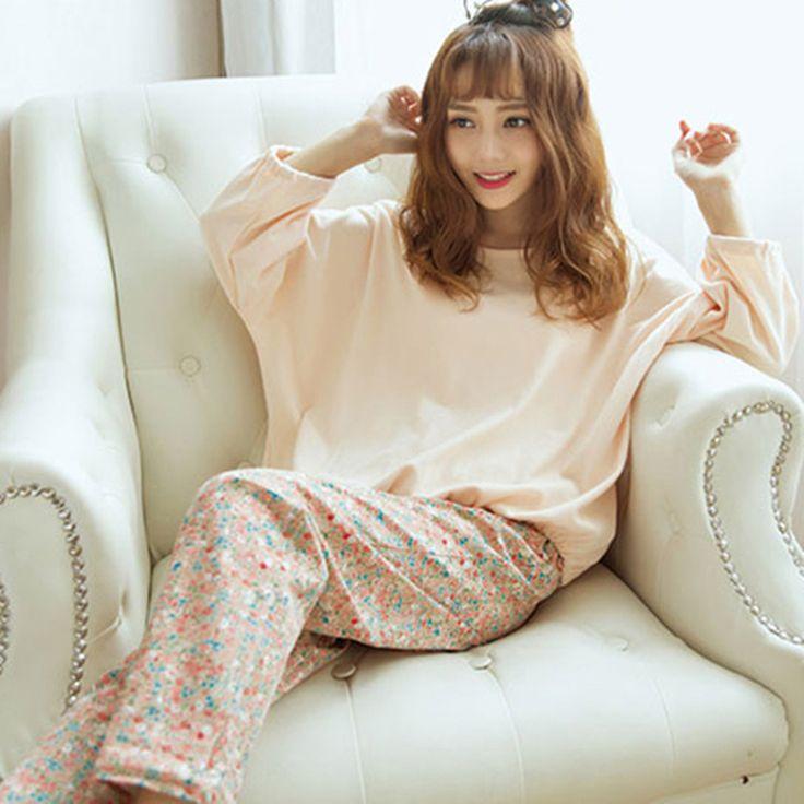 Winter Pyjamas Women Floral Print Long Sleeve Womens Pajamas Set Autumn Cute Korean Sleepwear Pijamas Mujer Homewear Nightgown
