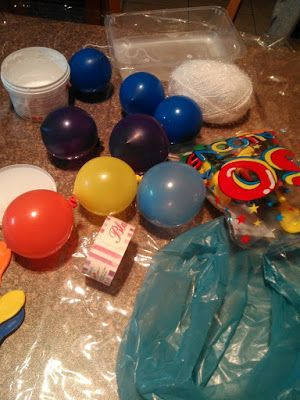 HomeASDecoration: Balloons, school glue, wool .... A smart and easy ...