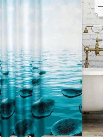 Kavicsmintás zuhanyfüggöny