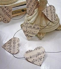 heart garland --keeping it simple keeps it sweet.  My daughter wants to do this for her band teacher.   Make in football shapes, or trumpet shapes for open house.