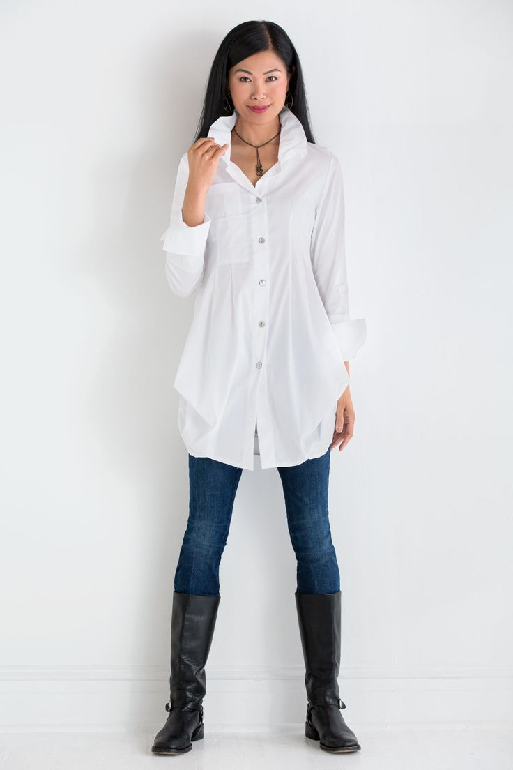 Tokyo Solid Shirt by Comfy USA (Woven Shirt) | Artful Home