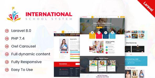 International School Php Laravel Script Codelib App In 2021 Email Template Design School Primary School