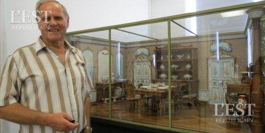La pièce maîtresse de cette exposition : la salle à manger offerte au président Sadi Carnot, exposée pour la 2e fois à Lunéville.