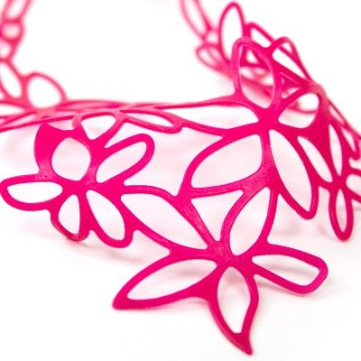 Hibiscus Necklace  (by Beija-Flor Design) at http://www.laranjalimao.com/