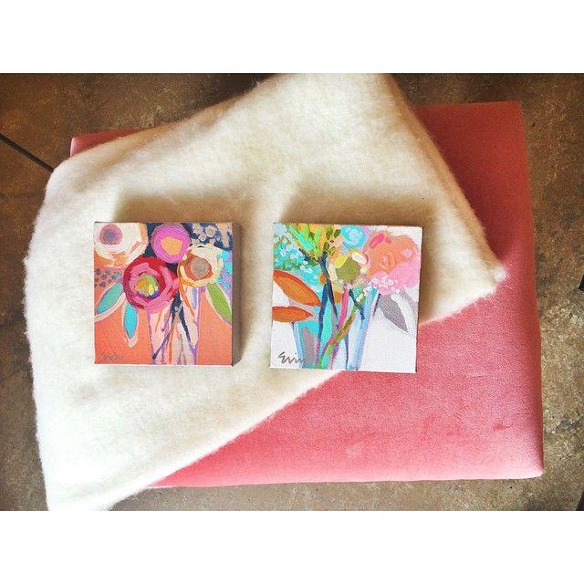 Erin Gregory mini paintings