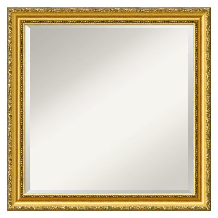Colonial Embossed Gold Wall Mirror - DSW5773