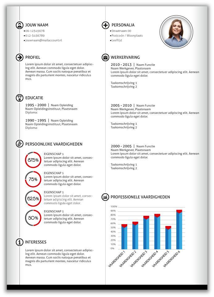 CV design 358. Volledig in Microsoft Word voor elke functie zelf aan te passen.