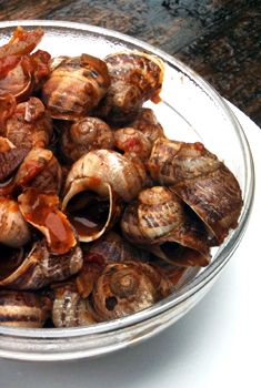 'Bebbux' - Snails cooked in a tomato and garlic sauce and served as a light appetizer