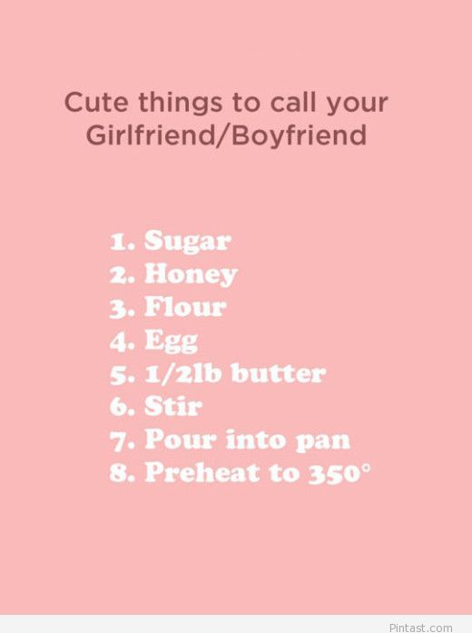 Cute things to say to your boyfriend or girlfriend